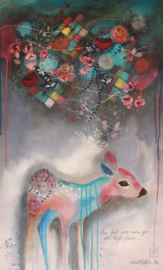 Her feet were made for the high places 110cmx55cm @ Nicolette Geldenhuys Art (fb)