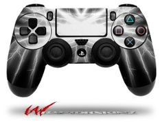 Lightning White - Decal Style Wrap Skin fits Sony PS4 Dualshock 4 Controller - CONTROLLER NOT INCLUDED - http://androidizen.com/shop/lightning-white-decal-style-wrap-skin-fits-sony-ps4-dualshock-4-controller-controller-not-included/