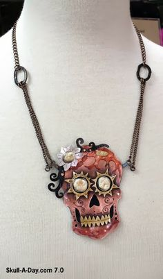 Custom Handmade Día de los Muertos Skull by Anatomical Element