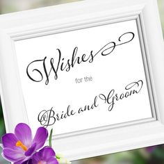 Wedding signage sign Decoration  Wishes for Bride by weddingfusion