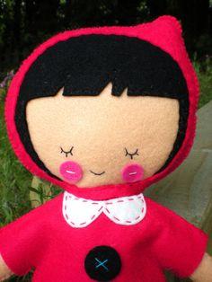 Little Red Riding Hood felt Plush Doll