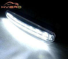 [} | ตรวจราคา [} 1pcs Car Daytime Running Light 8LED DRL Super...
