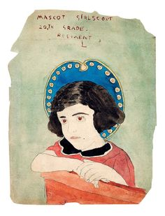 Portrait of a Girl Scout by reclusive American self-taught artist, Henry Darger. Photo: © The Museum of Everything