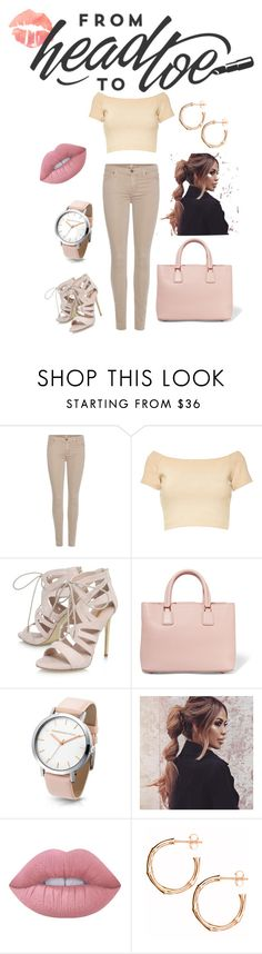 """""""SamSel 2"""" by jasarevic-merima-zivadinka ❤ liked on Polyvore featuring 7 For All Mankind, Alice + Olivia, Carvela, Dolce&Gabbana, Lime Crime and Dinny Hall"""
