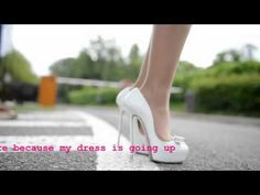 Julie skyhigh skipping rope in C. louboutin high heels & floating dress & upskirt