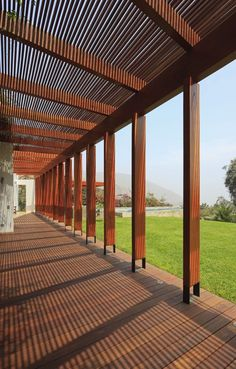 Wood and steel combined in columns