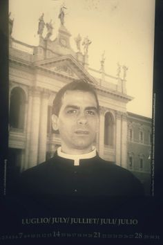 Real Calendar of hunky Priests - the future Pope is in here somewhere...  July