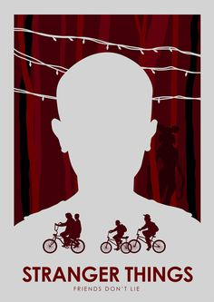 Stranger Things Minimalist Poster - Created by Ciaran Monaghan