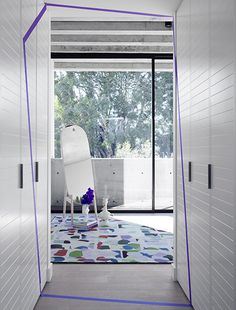 SJB   Projects - 41 Birmingham. View through robes to bedroom.