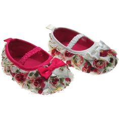 CUTE GIRLS VINTAGE ROSE SHOES WITH ELASTIC STRAP & SATIN BOW BY SOFT T – Baby Boutique Web