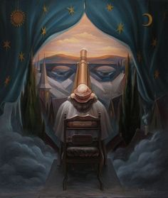 SUkrainian artist. huplyak Oleg - Sight of the Universe. Nicolaus Copernicus / Шупляк Олег - Погляд у Всесвіт. Миколай Коперник