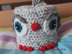 Grumpy looking Owl toilet roll cover
