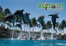 Xcaret is a Maya civilization archaeological site located on the Caribbean....Mexico