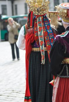 Bridal costumes from Western Norway
