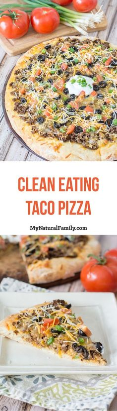 Taco Pizza Recipe with Spicy Marinara Sauce {Clean Eating}