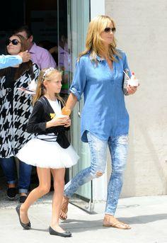 Heidi Klum com os filhos (Foto: Splash News/AKM-GSI / AKM-GSI )