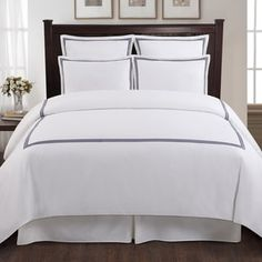 Shop for Echelon Home Three Line Hotel Collection Cotton Sateen 3-piece Duvet Cover Set. Get free shipping at Overstock.com - Your Online Fashion Bedding Outlet Store! Get 5% in rewards with Club O! - 17117571