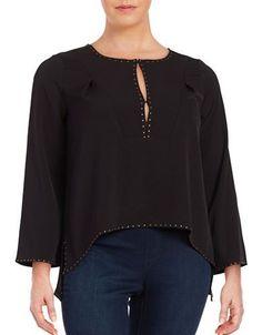 Modamix Plus Studded Blouse Women's Black 22