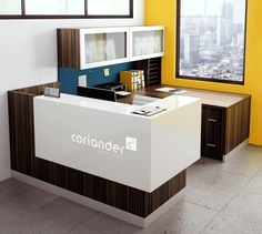 Make a great first impression with Oly Reception Stations. They provide the perfect image of your company by incorporating your company logo, or brand with back lit imaging thru antimicrobial solid surface materials. Make a statement with the first thing every customer or visitor sees.