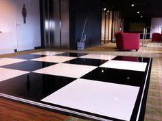 Zwart-wit dansvloer