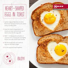 Make a romantic breakfast with this simple NEFF recipe for heart-shaped eggs in toast.