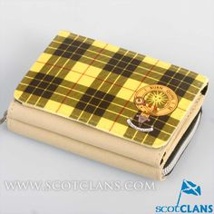 MacLeod Clan Crest and Tartan Purse