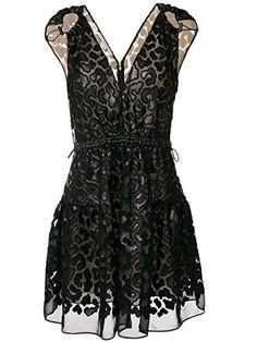 Stella McCartney patterned v-neck dress - Black Stella Mccartney Vestidos, Stella Mccartney Dresses, Stylish Dresses, Cheap Dresses, High Fashion, Luxury Fashion, Womens Fashion, Savile Row, Summer Dresses For Women