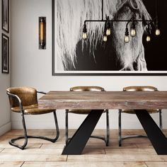 Combining mid-century modern elements with Industrial style, we've created the Westwood masterpiece. Crafted from solid Elm with a washed grey finish, no two are exactly alike. The dining table will s