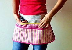 Ana White Work Apron stripes/floral apron | Ana White  plus Pattern to DIY ur own apron.