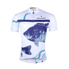 ILPALADINO Men s Cycling Apparel Fish White Bike Shirt for Summer  Comfortable Cycling Jersey Exercise Bicycling Pro 985e7934d