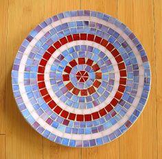 Handmade Glass Mosaic Plate/Bowl by NYMosaicArt on Etsy, $75.00