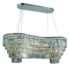 Elegant Lighting Maxim 14 Light Chandelier Size / Crystal Color / Crystal Trim: