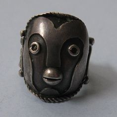 Silver Mask Ring, c. 1975