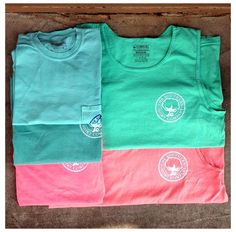 Southern Shirt Co.- Sea Mist and Salmon T-Shirts