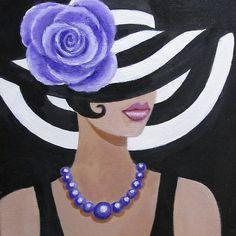 Lady in a striped hat