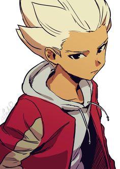 Inazuma Eleven GO Gouenji Shuuya art Old Anime, Anime Guys, Anime Art, Manga Anime, Inazuma Eleven Axel, Anime Child, Manga Drawing, Pretty Art, Illustrations