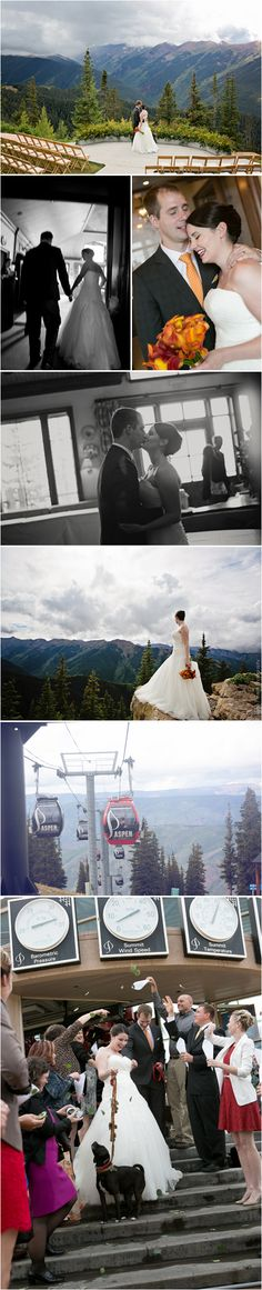 Wedding in the Clouds.  Yes, Aspen is a beautiful venue even without our blue sky!