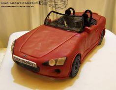 'Honda S2000 Car Cake'  All items are edible - even the windshield!  www.madaboutcakes.com.au