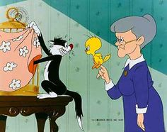 Sylvester, Tweety Bird & Grannie