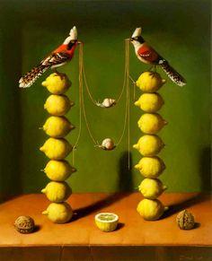 Ilya zomb - animals, birds, balance in art, balance art, balance of art