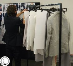 Vogue Experience - Z Zegna SS 2014 backstage - pale colors