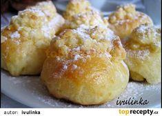 Koláčky od tety z Moravy recept - TopRecepty.cz Cauliflower, Hamburger, Food And Drink, Bread, Vegetables, Sweet, Nova, Mascarpone, Candy