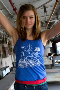 Need a fun tank for layering  Try our Womens Pirate Ship Tank by RevivalInk. b4f120466d