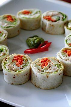 California style tuna salad rolls. The less dangerous take on sushi =)