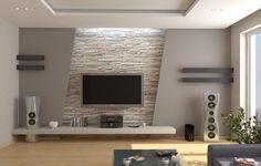 Creative- modern-TV unit - TV cutting through the wall