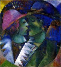 Amoureux par les grands peintres Marc Chagall (1887-1985)