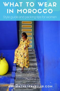 Booked for a Moroccan vacation but not sure what to pack? Here's my guide for what to wear in Morocco-- so you're fashionable and within dress code. #women'sfashiontipsandstyleguide
