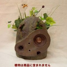 Laputa: Castle In The Sky Robot planter. This will be in my rooftop garden someday!