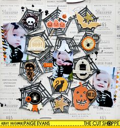 Halloween Scrapbook Layout by Paige Evans #Silhouette