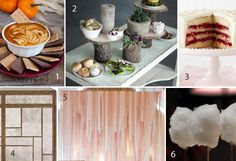 We couldn't choose just one dessert, so we made a whole table for our favorite sweets. Here's the moodboard that inspired our design. (http://blog.hgtv.com/design/2013/11/10/home-for-the-holidays-food-and-dessert-table-moodboards/?soc=pinterest-blogparty)